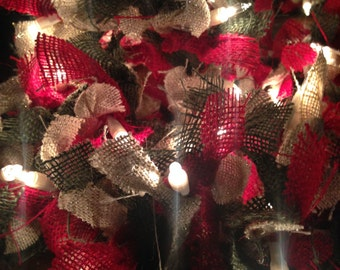 PREORDER AND SAVE Christmas Light Garland 12ft