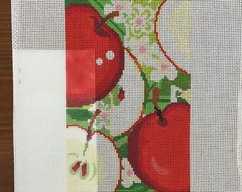 Apples needlepoint canvas