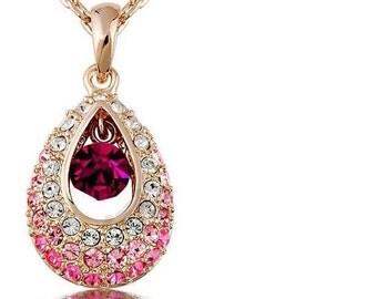 Crystal necklace Austrian rhinestone