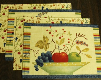 Fruit Bowl Placemats Set of 4