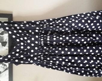 Polka dot retro 1950s style dress