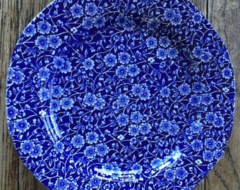 Blue Calico Burleigh Ware Plate
