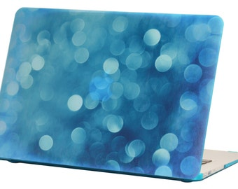 Macbook Air 13 inches Rubberized Hard Case for model A1369 & A1466, Bubble Design with Blue Bottom Case, Come with Keyboard Cover