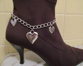 Boot Bracelet/ Hearts