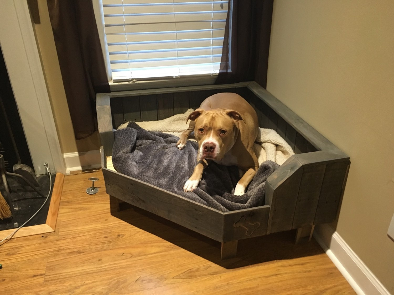 Pallet Dog Bed Corner Fit Handcrafted Dog Bed By