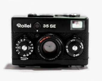 Rollei 35 SE Black Camera  + HFT Sonnar 40mm F2.8