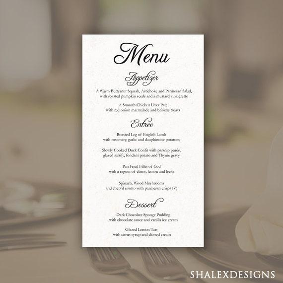 Printable editable wedding menu template photoshop psd for Photoshop menu template