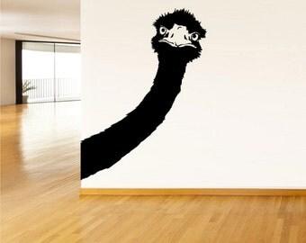 rvz515 Wall Vinyl Sticker Bedroom Decal Ostrich Animal Camel-bird Head