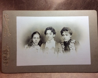 Vintage Victorian Cabinet Card 1890s A.Greenwood