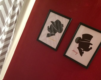 8x10 Mickey Mouse Silhouette