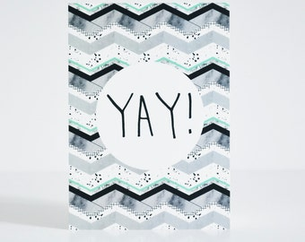 Yay statement print Postcard