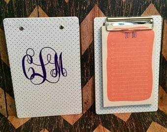 Mini Monogrammed Clipboard