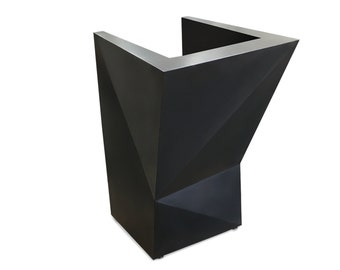 Gun Metal Steel Hostess Stand Podium