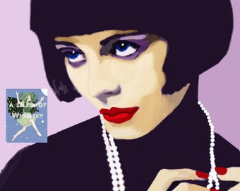 Louise Brooks. 1920s Silent Screen Star from Kansas/ Art Prints & Trading Cards