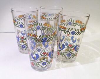 Vintage Drinking Glasses - Set of 4