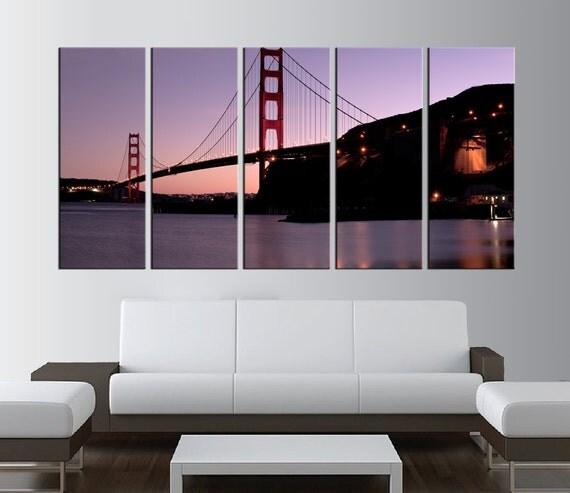 golden gate bridge canvas wall art san francisco by. Black Bedroom Furniture Sets. Home Design Ideas