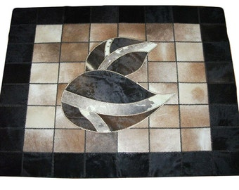 Natural Handmade Cow Leather Carpet / Rug