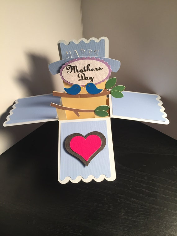 handmade popup box card mothers daycraftsbymrswireman
