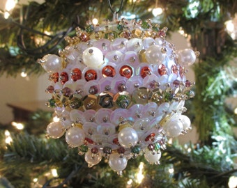 Medium Iridescent and Gold Ornament