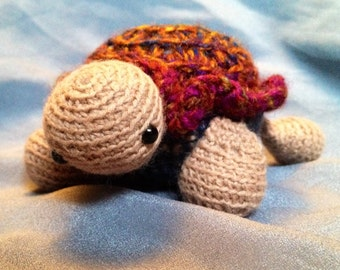 Amigurumi turtle. Sweet crocheted turtle perfect for imaginative play