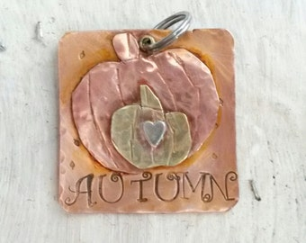 Fall style Pet Tag - Large Dog Tag - Pet Accessories - Free Shipping - Pet Tag for Autumn - Halloween Pet ID