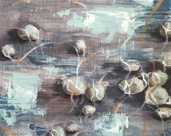Water Stones, Rocks, Oil painting,