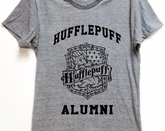 """FOR WIZARDS shirt """"Hufflepuff Alumni"""" for  potter voldemort hogwart fans comfortable affordable artsy tee for birthday gift christmas"""