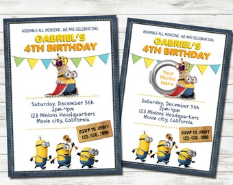 Minions Invitation, Minions Party, Minions Printable Birthday Invitation