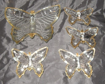 Vintage Jeanette Glass Butterfly Dishes