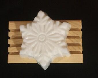 Handmade Snowflake Soap