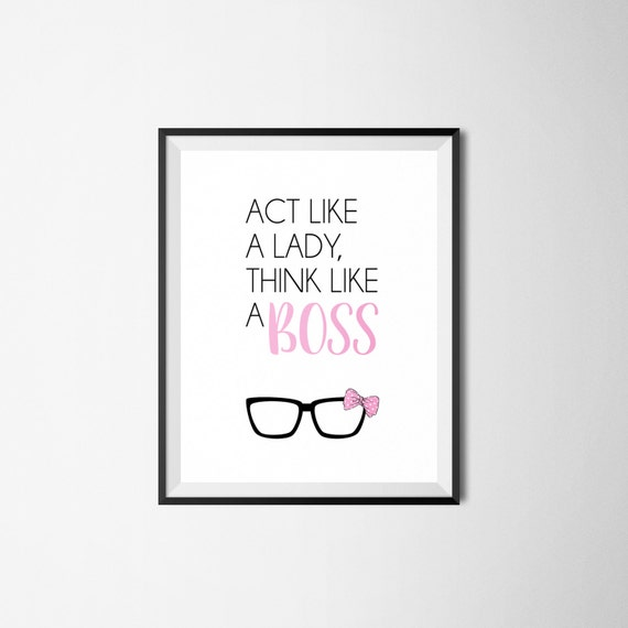 Wedding Gift For Boss: Act Like A Lady Like A Boss 8x10 Print Wedding Gift
