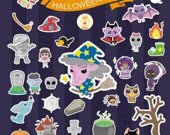 SALE - Limited Time Offer -  Halloween Clipart set - Buy 2 Get 1 Free!!