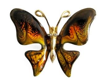 Vintage Emmons Enameled Butterfly Brooch Pin