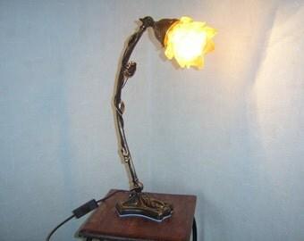 Table lamp Beistellampe antique flower umbrella