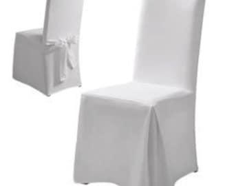Chair covers, cover in ecru