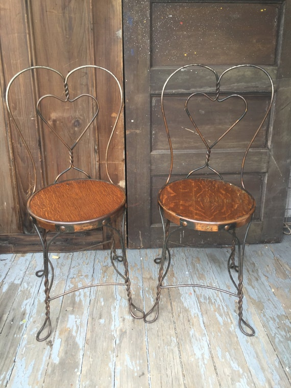 Antique Wrought Iron Ice Cream Parlor Chairs