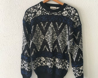 1990's Cosby Vintage Graphic Print Sweater by Torriani