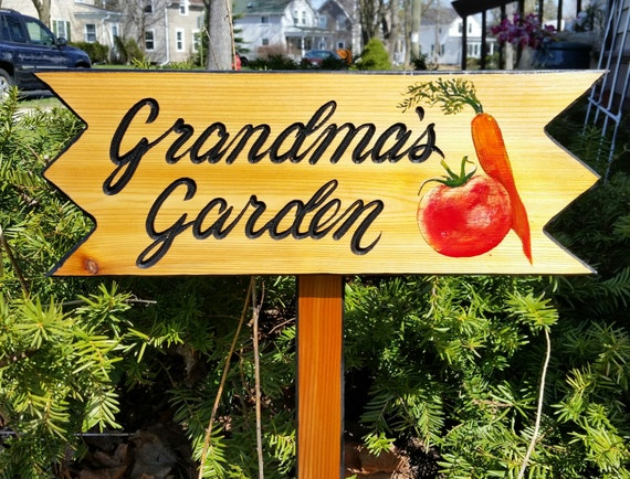 Garden Signs Personalized Garden Signs Vegetable Sign Only