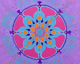 """Mandala """"Joie de vivre"""" (Reproduction on canvas)"""