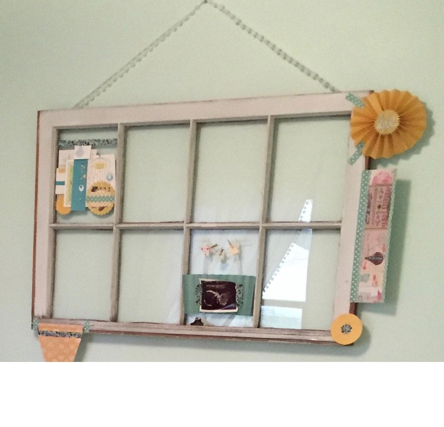 SALE Window Pane / Frame / Vintage / Old / Home Decor / Rustic / Bohemian / Nursery / Wall Art / Wedding / Eco / Salvaged / Upcycled