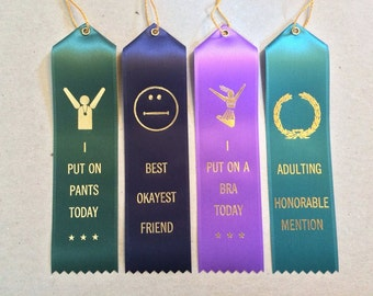 Party Pack - Set of 4 Adult Award Ribbons