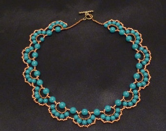 """The """"Ashley"""" Necklace in Turquoise and Copper"""