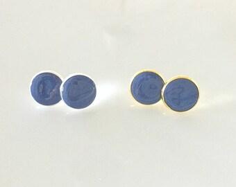 Periwinkle Purple Polymer Clay Stud Earrings
