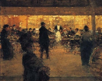 the night cafe print by luigi loir, paris cafe print, french painters collection