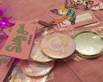 Silly Girls Pocket Mirrors