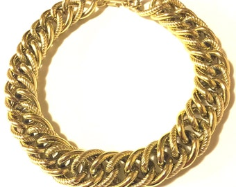 1980s Vintage gold chunky chain