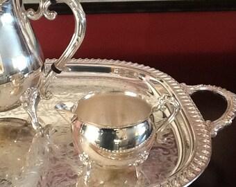 Leonard Silverplate Tea Set and Tray