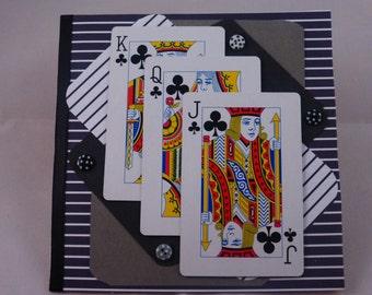 Handmade Playing Cards Greeting Card