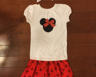 Red Minnie Mouse Outfit
