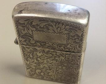 Vintage Sterling Silver Zippo Lighter